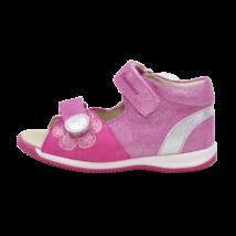 Pink-Ezüst virágos szandál (18-24)