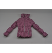 Rózsaszín steppelt kabát