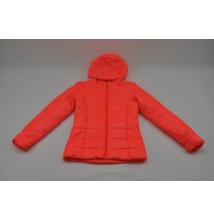 Neon-narancssárga steppelt kabát