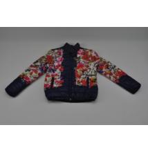 Virágmintás steppelt kabát