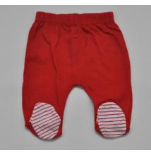 Piros lábfejes nadrág
