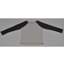 Melírozott szürke pulóver