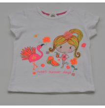 Csillámos kislány mintás póló