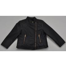 Fekete cipzáras kabát