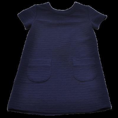 Sötétkék zsebes ruha (98)