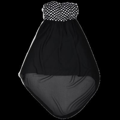 Pöttyös fekete ruha (S-M)