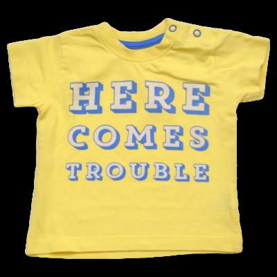 Kék patentos sárga póló (68)