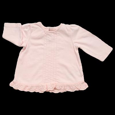 Rózsaszín csipke aljú felső (50-56)