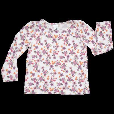 virág mintás pamut felső
