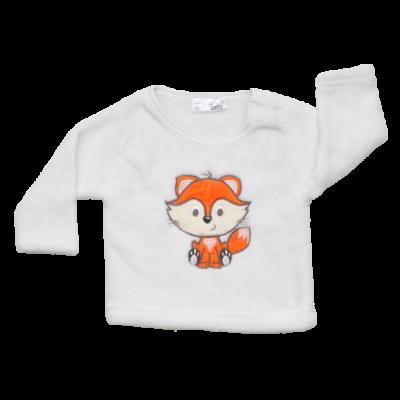 róka mintás pulóver