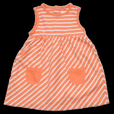 narancs csíkos nyári ruha