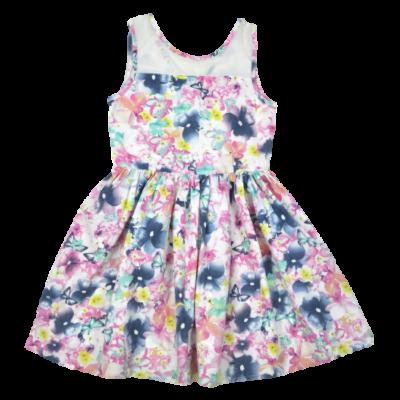 Virágmintás kislány nyári ruha.