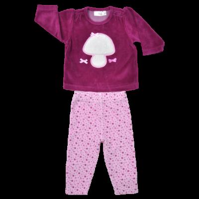 Plüss lila baba pulóver szett.
