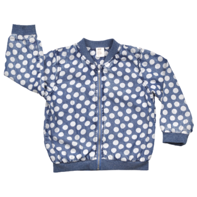 Pöttyös H&M kislány átmeneti kabátka 92-es méretben.