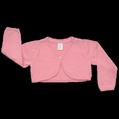 Köttött H&M rózsaszín gyerek boleró.