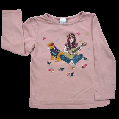 C&A lány gyerekruha, mályva színű pamut hosszú ujjú felső.