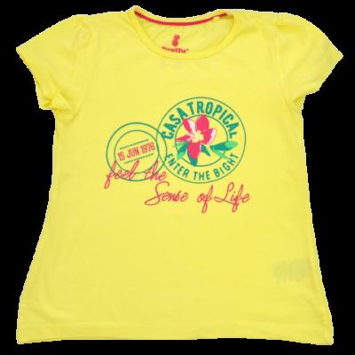 Sárga lány póló 110-es méretben.