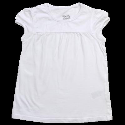 Fehér pamut póló lányoknak.