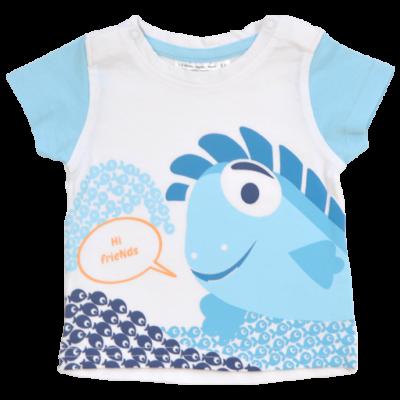 Pamut baba rövid ujjú póló halas mintával.