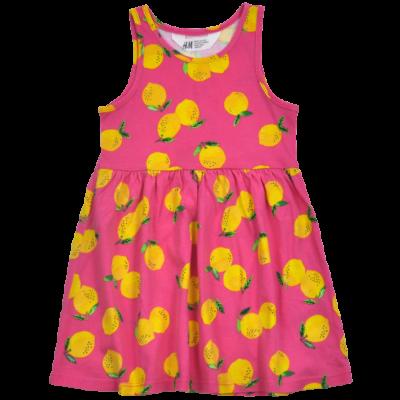 H&M citrom mintás pamut kislány ruha.