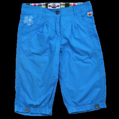 Kék capri nadrág lányoknak 128-as méretben.