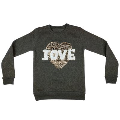 Szürke csillámos pulóver (152)