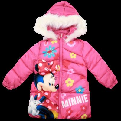 Minni rózsaszín kislány télikabát.