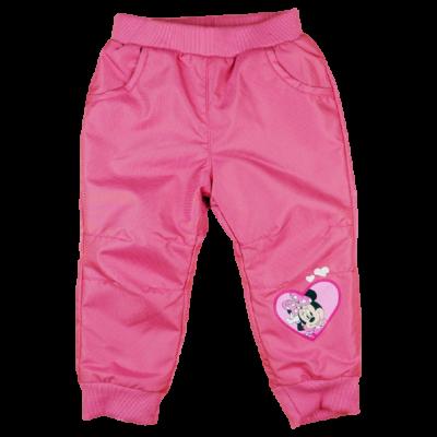 Rózsaszín Minnie mintás kislány bélelt nadrág.