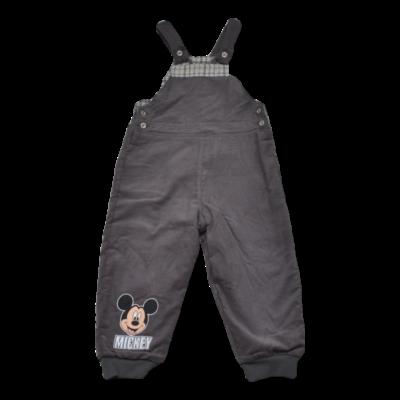 Bélelt Mickey microkord kantáros nadrág (92-98)