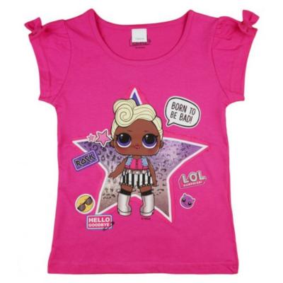 Pink masnis LOL póló (116-140)