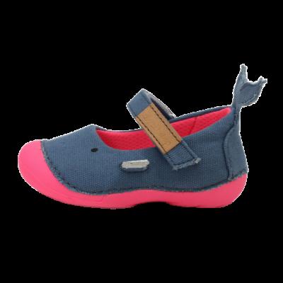 bálna vászon nyitott cipő