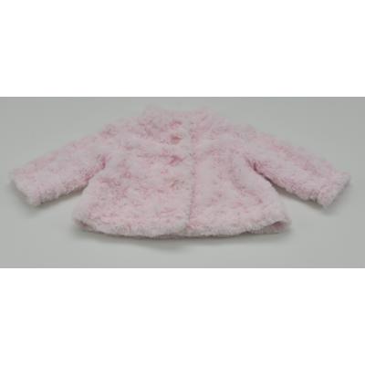 Rózsaszín műszőrme kabátka