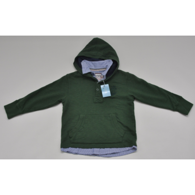 Kapucnis melegítő felső ing gallérral (116)