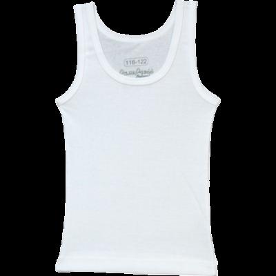 Fehér fiú pamut atléta (104-146)