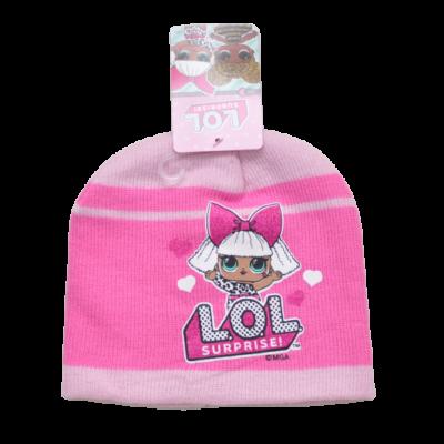 LOL Surprise csillogó pink kötött sapka (52-54)