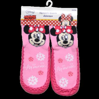Minnie rózsaszín bőrtalpú zokni (23-30)