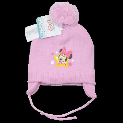 Minnie-bélelt-téli-megkötős-gyerek-sapka-pasztell-rózsaszín