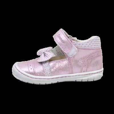 rózsaszín masnis nyitott cipő